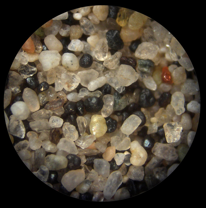 White Sand Under Microscope
