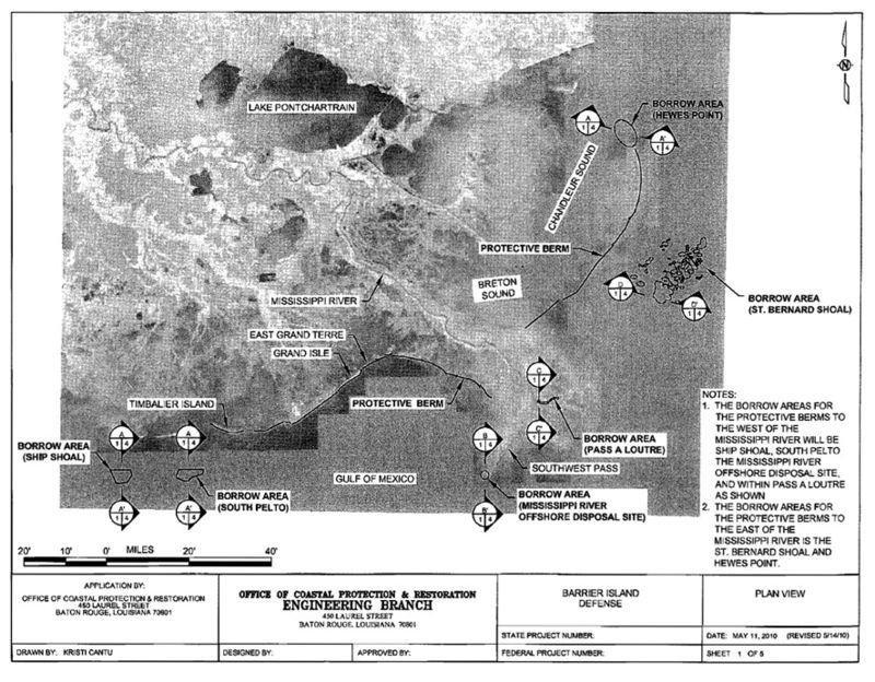 Berm plan regional